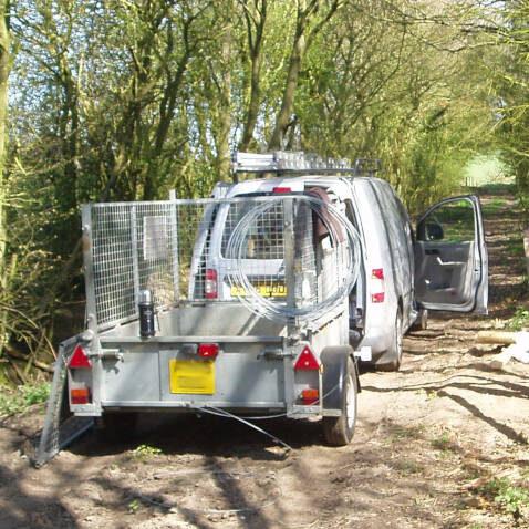 ECPC Van & Trailer for Pest Fencing